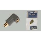 Переходник штекер HDMI - гнездо HDMI, угловой