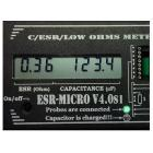 Измеритель ёмкости и ESR электролитических конденсаторов ESR-micro v4.0SI