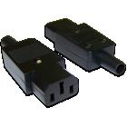 Гнездо сетевое(IEC 60320 C13), 220В 10A на кабель, прямое, разборное