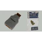 Переходник гнездо HDMI - штекер mini HDMI
