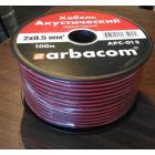 Акустический кабель, Арбаком АРС-013 2х0,5 мм2, монтажный черно-красный, CCA