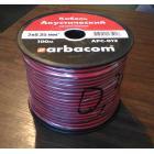 Акустический кабель, Арбаком 2х0,35 мм2, монтажный черно-красный, CCA