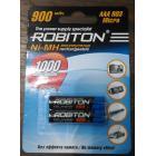 Аккумулятор R03 (ААА) Robiton 900 мАч Ni-Mh