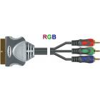 Шнур Luxmann штекер Scart - 3 штекера RCA, RGB, 2 метра, 407-903-4