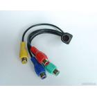Шнур-переходник штекер S-Video (7 pin) - 4 гнезда RCA