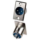 Штекер Canon (XLR) 3 pin, монтажный