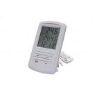 Термометр цифровой TM 898 с часами и гигрометрометром