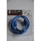 Шнур USB 3.0 штекер A - штекер B, 1,5 метра, 2 феррита
