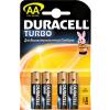 Duracell Turbo LR06 (AA), 4 в блистере