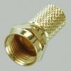 F-штекер на кабель 5c2v RG6 (Gold)