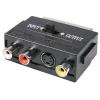 Переходник штекер SCART - 3 гнезда RCA + гнездо S-Video (4pin) с переключателем