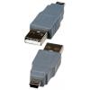 Переходник штекер USB A - штекер  miniUSB B (5pin)