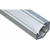 Профиль для светодиодной ленты угловой, 2 метра, с заглушкой-рассеивателем