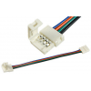 Коннектор для диодной ленты гнездо - гнездо, RGB, на шнуре