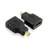 Переходник штекер micro HDMI - гнездо HDMI