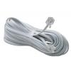 шнур телефонный, линейный, 15 метров белый