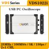 OWON VDS1022i осциллограф - приставка 25 МГц, 2 канала, гальваническая развязка